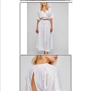 Free People White Midi Skirt Set